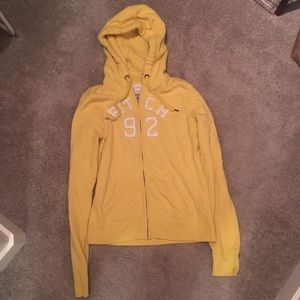 Abercrombie & Fitch Yellow Hoodie